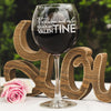 Quarantine Valentine's Wine Glasses - Design: VDCOV