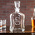 Engraved Whiskey Decanter Monogram - Design: M3