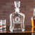 Engraved Whiskey Decanter Monogram - Design: M1