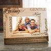 Personalized picture frame is customized with your logo, monogram, image, or text.