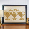 Wood Print - Design: Met Engaged Married