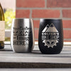 Metal Engraved Wine Tumbler Personalized Design/Logo - Design: CUSTOM