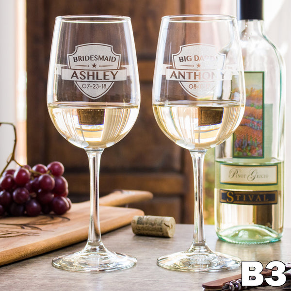 White Wine Glass - Design: B3