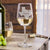 Etched White Wine Glasses - Design: Hometown