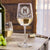 Etched White Wine Glasses Monogram - Design: M1