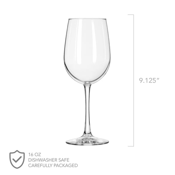 Etched 5th Anniversary Wine Glasses - Design: A1
