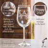 Etched White Wine Glasses - Design: STORY