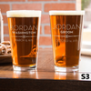 Etched Pint Glass Any Occasion - Design: S3