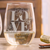 Etched Stemless White Wine Glasses - Design: N4 Love