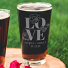 Etched Pint Glass - Design: N4 Love
