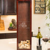 Small Rectangle Wine Cork Holder with 2 Glasses Gift Set - Design: N2
