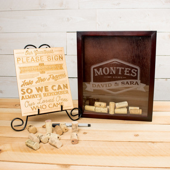 Wood Guest Book Sign