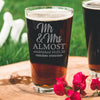 Etched Pint Glass Damn Corona Wedding Postponed - Design: COV1