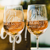 2 White Wine Glass Set Almost Married Corona Glasses - Design: COV1