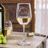 Etched White Wine Glasses for Couples - Design: L6