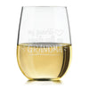 Etched Stemless White Wine Glasses Mother's Day for Grandma - Design: MD8