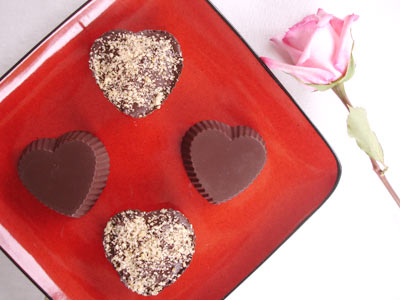 Chocolate Hazelnut Hearts