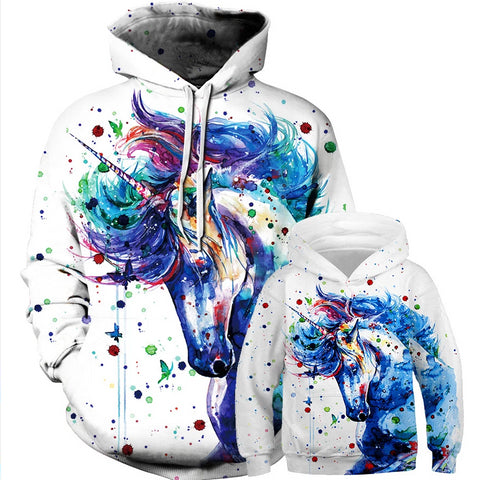 Matching Unicorn Hooded Sweater