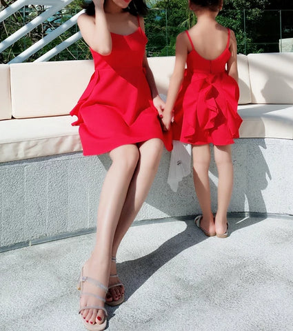 Matching Red Cocktail Dress - dresslikemommy.com