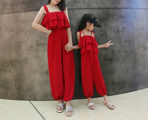 Mommy & Me Matching Red Dress - dresslikemommy.com