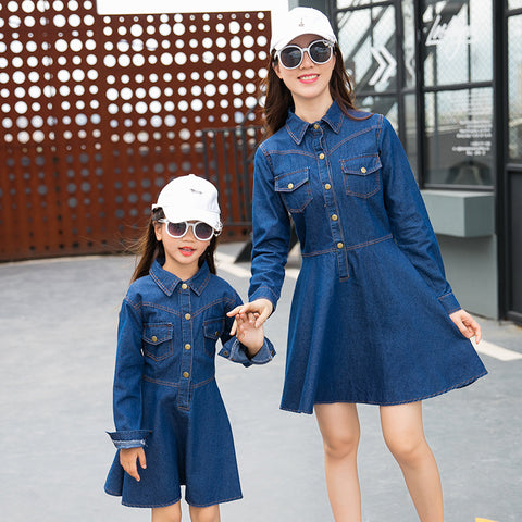 Mommy & Me Matching Denim Dress - dresslikemommy.com