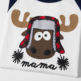 Family Matching Moose Pajamas Holiday Christmas - dresslikemommy.com