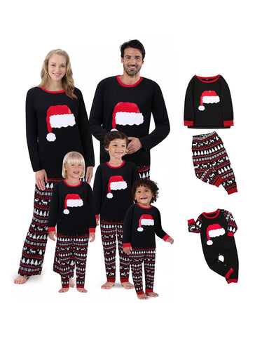 Matching Family Christmas Hats Pajamas - dresslikemommy.com