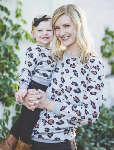 Matching Leopard Thick Knit Long-Sleeved Shirt - dresslikemommy.com