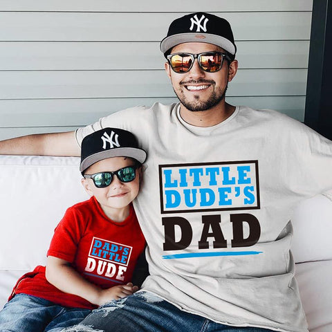 Daddy & Me Little Dude's Dad T-shirts - dresslikemommy.com
