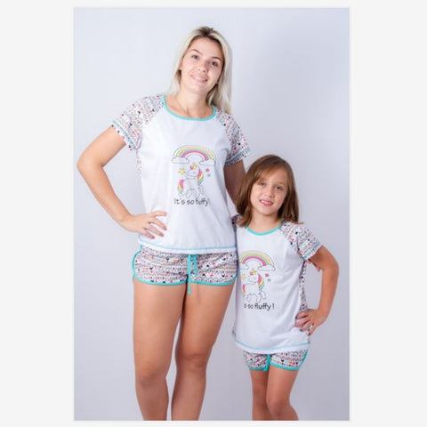 Mother Daughter Matching Unicorn Pajamas - dresslikemommy.com