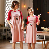 Mother Daughter Matching Cotton Short-Sleeved Pajamas - dresslikemommy.com