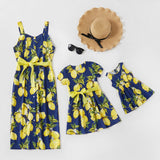 Mommy & Me Lemon Print Matching Dresses - dresslikemommy.com