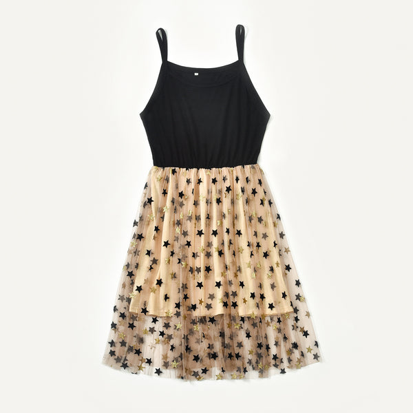 Mother & Daughter Vintage Stars Mesh Dress - dresslikemommy.com