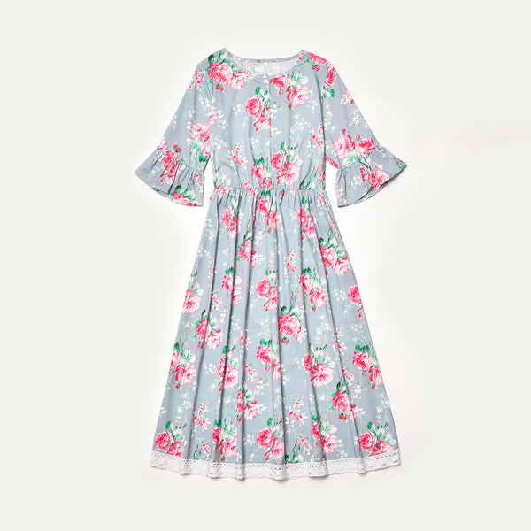 Mother and Daughter Short Sleeved Ruffled Dress - dresslikemommy.com