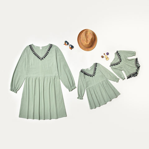 Mother and Daughter Long Sleeved Dress - dresslikemommy.com