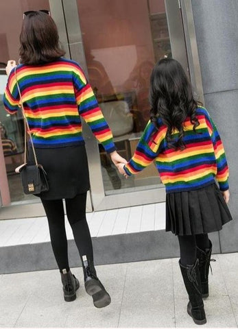 Matching Mother & Daughter Rainbow Sweater - dresslikemommy.com