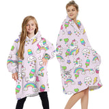 Matching Sweatshirt Hoodies TV Blanket - dresslikemommy.com