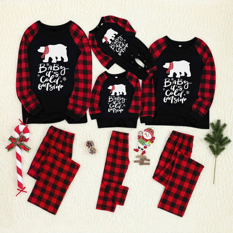 Matching Christmas Pajamas Baby Its Cold Outside - dresslikemommy.com