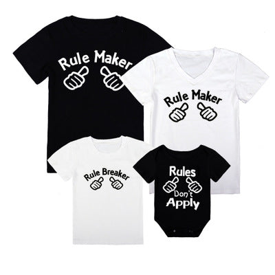 Family Matching Rule Maker Rule Breaker T-shirts - dresslikemommy.com