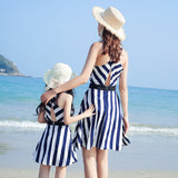 Sleeveless Chevron Pattern Dress Mommy & Me