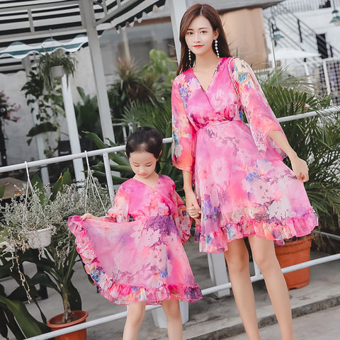 Mommy & Me Beach Silk Dress