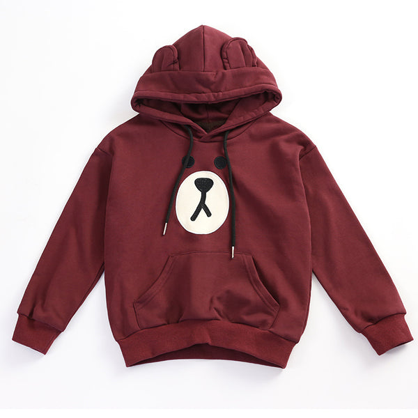 Family Matching Thick Hooded Sweater Bear Face - dresslikemommy.com