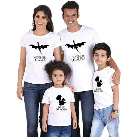Family Matching Dragon T-shirts