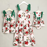 Matching Floral Mother Daughter Dresses Outfit - dresslikemommy.com