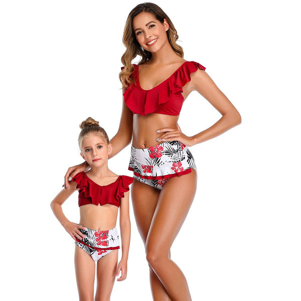 New 2020 Matching Mother Daughter Swimsuit Beachwear - dresslikemommy.com