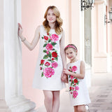 Matching Mother Daughter Floral Party Dress - dresslikemommy.com