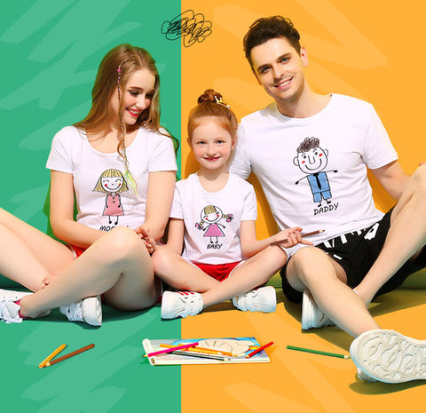 Matching Hand-Painted Family Four T-Shirt - dresslikemommy.com