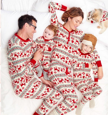 Family Look Matching Christmas New Year Pajamas