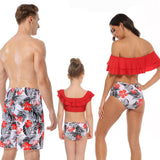 Family Matching Summer Colors Swimsuits - dresslikemommy.com
