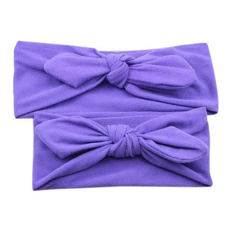 Baby and Mommy Top Knotted Headband Purple Set - dresslikemommy.com